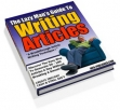 The Lazy Man Guide To Writing Articles